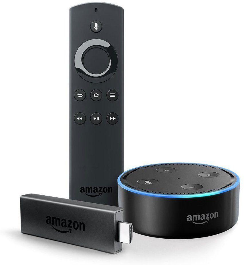 Fire TV Stick mit Alexa-Sprachfernbedienung + Echo Dot (Schwarz u. Weiß) (Amazon Prime)