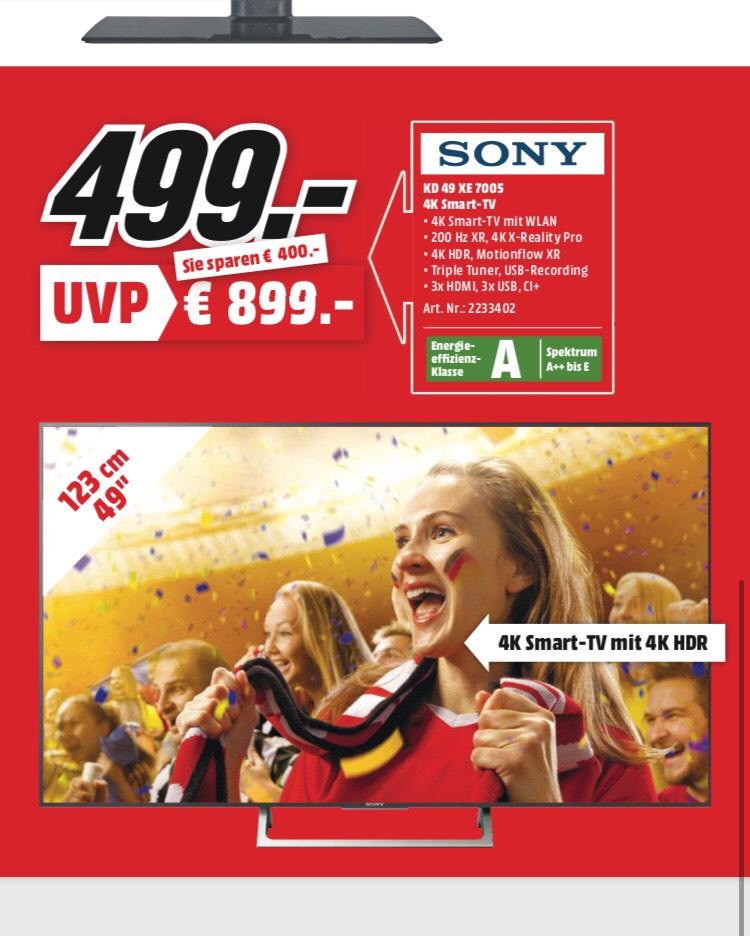 Frankfurt SONY KD 49 XE 7005 4K/UHD TV MEDIA MARKT FRANKFURT
