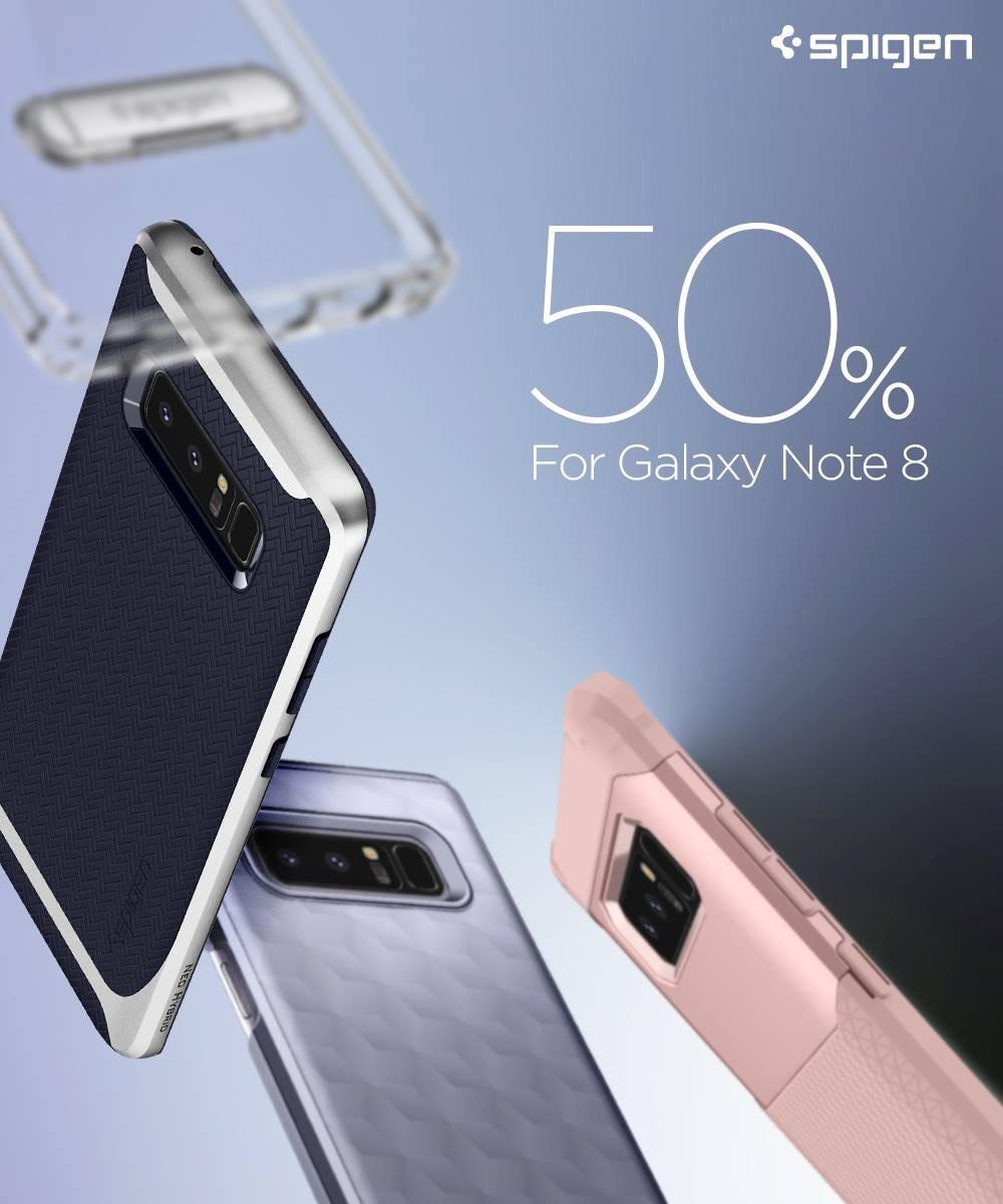50% auf alle Samsung Galaxy Note 8 Schutzhüllen & Displayschutz von Spigen bei Amazon