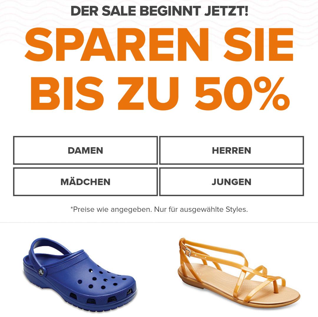 Bis zu 50% Sale Crocs.de
