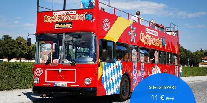 Hop-on-Hop-off-Stadtrundfahrt durch München, -50%