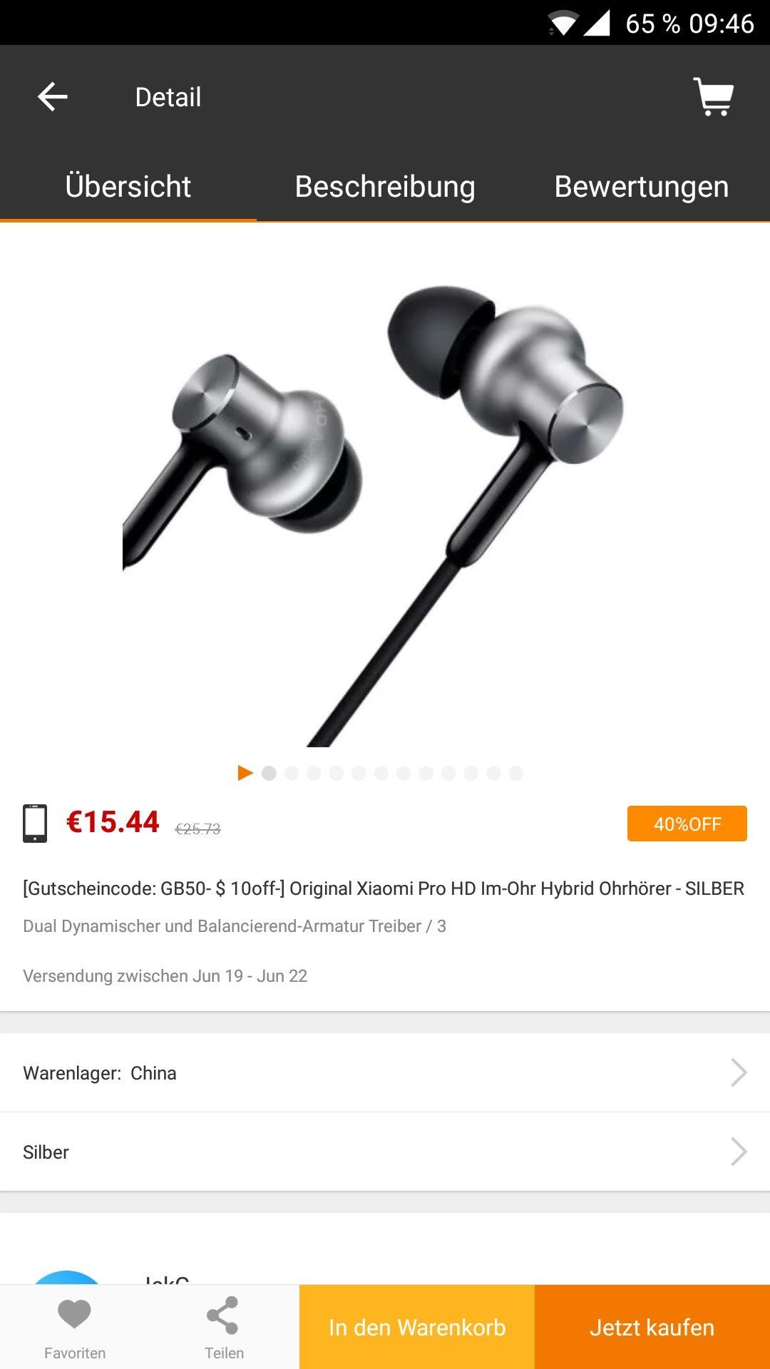 XIAOMI Hybrid Pro HD In-Ears im Sale über GearBest App