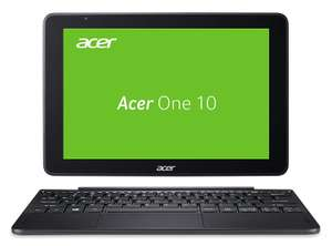 [B4F] Acer One 10 S1003-11M2 25,65 cm (10,1 Zoll Full-HD IPS Multi-Touch) Convertible Laptop (Intel Atom x5-Z8350, 4GB RAM, 128GB eMMC, Win 10 Home) schwarz
