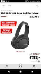 Sony WH-CH 700 inkl. 70€ Festival Ticket
