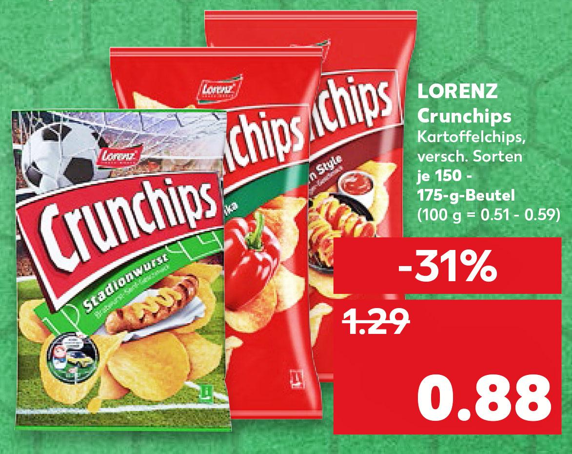 (Kaufland ab 21.06.) Lorenz Crunchips nur 88 Cent