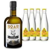 Playboy Halbjahresabo + BOAR GIN 0,5l + 4 Flaschen Schwarzwald Tonic Water für 38,50€ ODER Free Mens World (6 Ausgaben) + dasselbe GIN-SET für 35,80 €