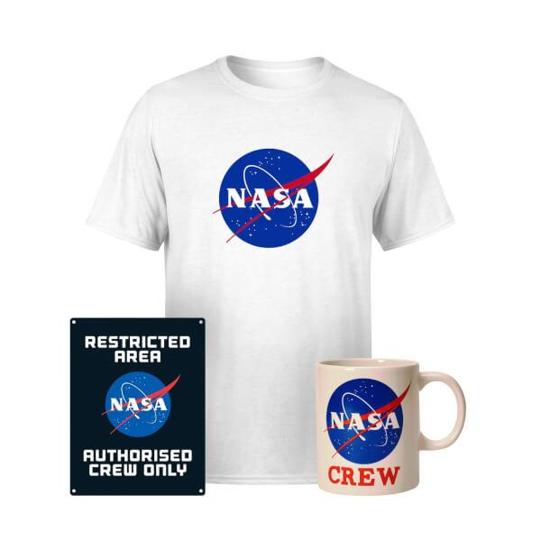 NASA Paket: T-Shirt, Tasse & Blechschild (Vorbestellung)