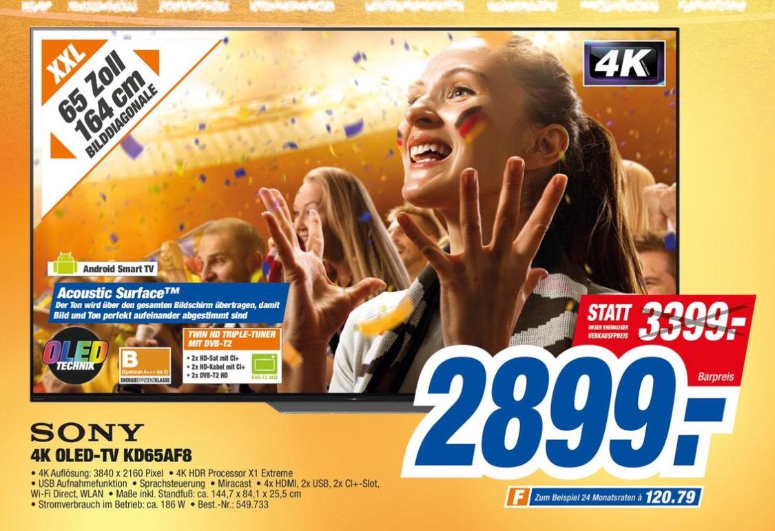 Sony 65AF8 OLED PVG EBay 2999€ Lokal