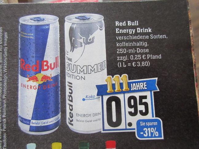 Edeka - Red Bull die Dose mir Coupon für 0,70 Euro