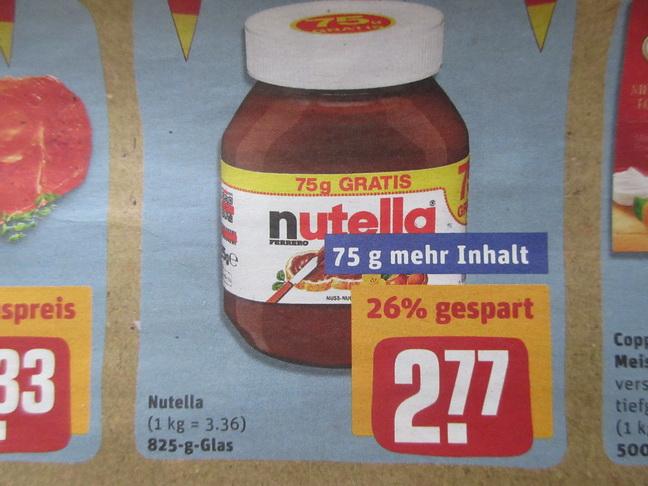 Rewe - Nutella 825gr / Becks Bier + extra