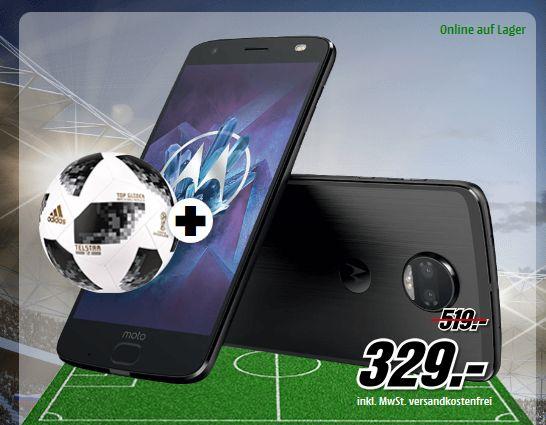 MOTOROLA MOTO Z2 FORCE 64 GB Super Black Dual SIM inc Fußball für 329,-€ [Mediamarkt]