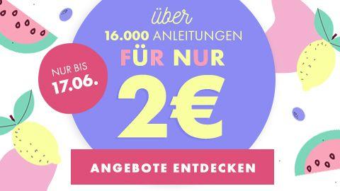 [makerist]  Anleitungen zum Nähen, Stricken, Häkeln und Plotterdateien für 2€