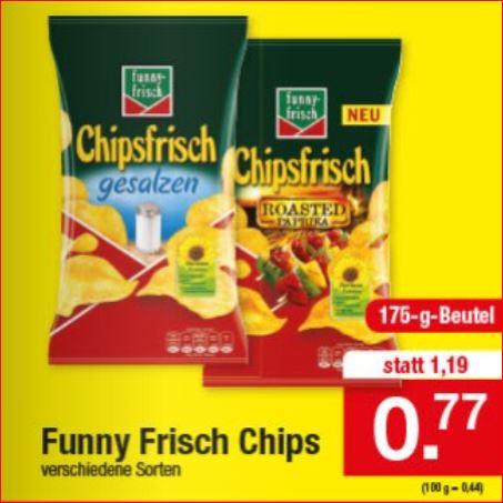 Funny Chipsfrisch 175g, verschiedene Sorten für 77 Cent [Zimmermann]