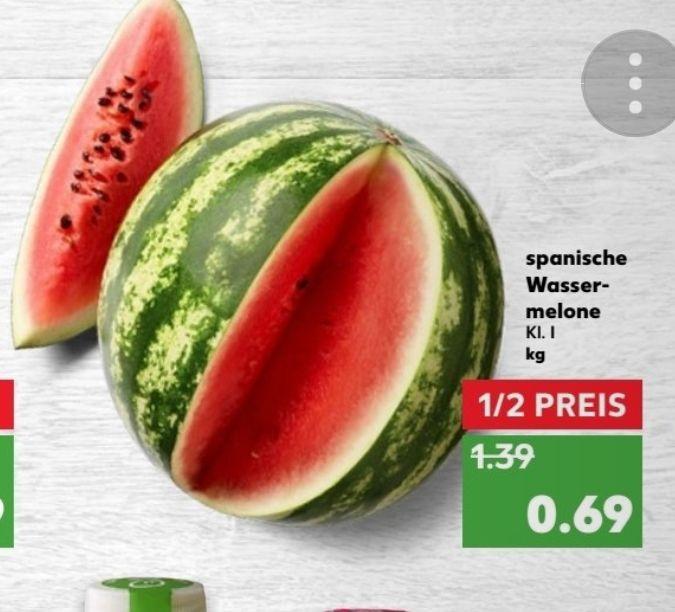 Kaufland ab 21.06. Spanische Wassermelone zum aktuellen Bestpreis (0,69€/kg)