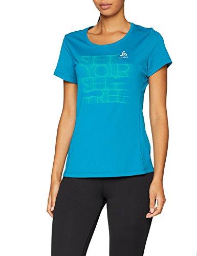 Odlo Damen Bl Top Crew Neck S/S Sliq Print T-Shirt
