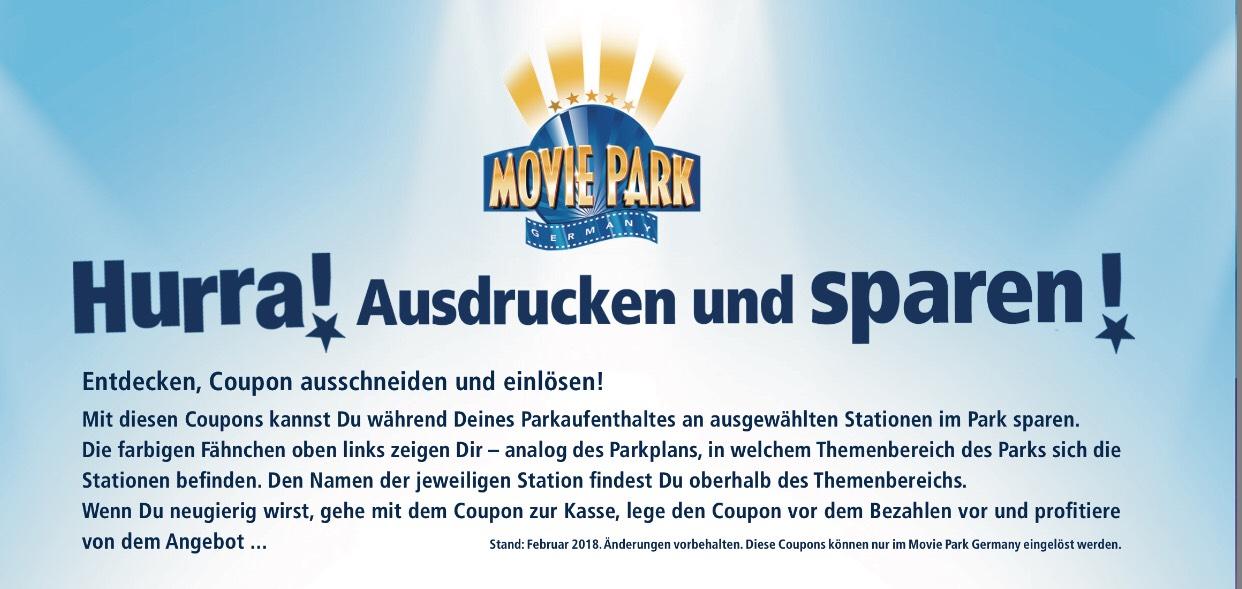 [Movie Park] div. Gutscheine für Speisen & Getränke (offline)