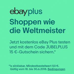 [eBay Plus] 15€ Gutschein auf alle Plus Artikeln ab 18.06.