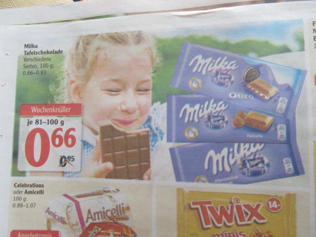 Globus - Milka Schokolade