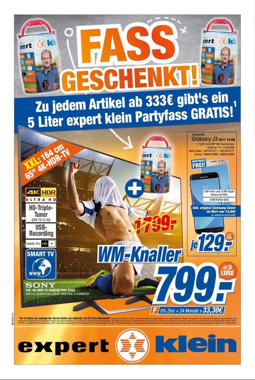 [Lokal Koblenz Expert Klein] Sony 65 XE7096 BAEP