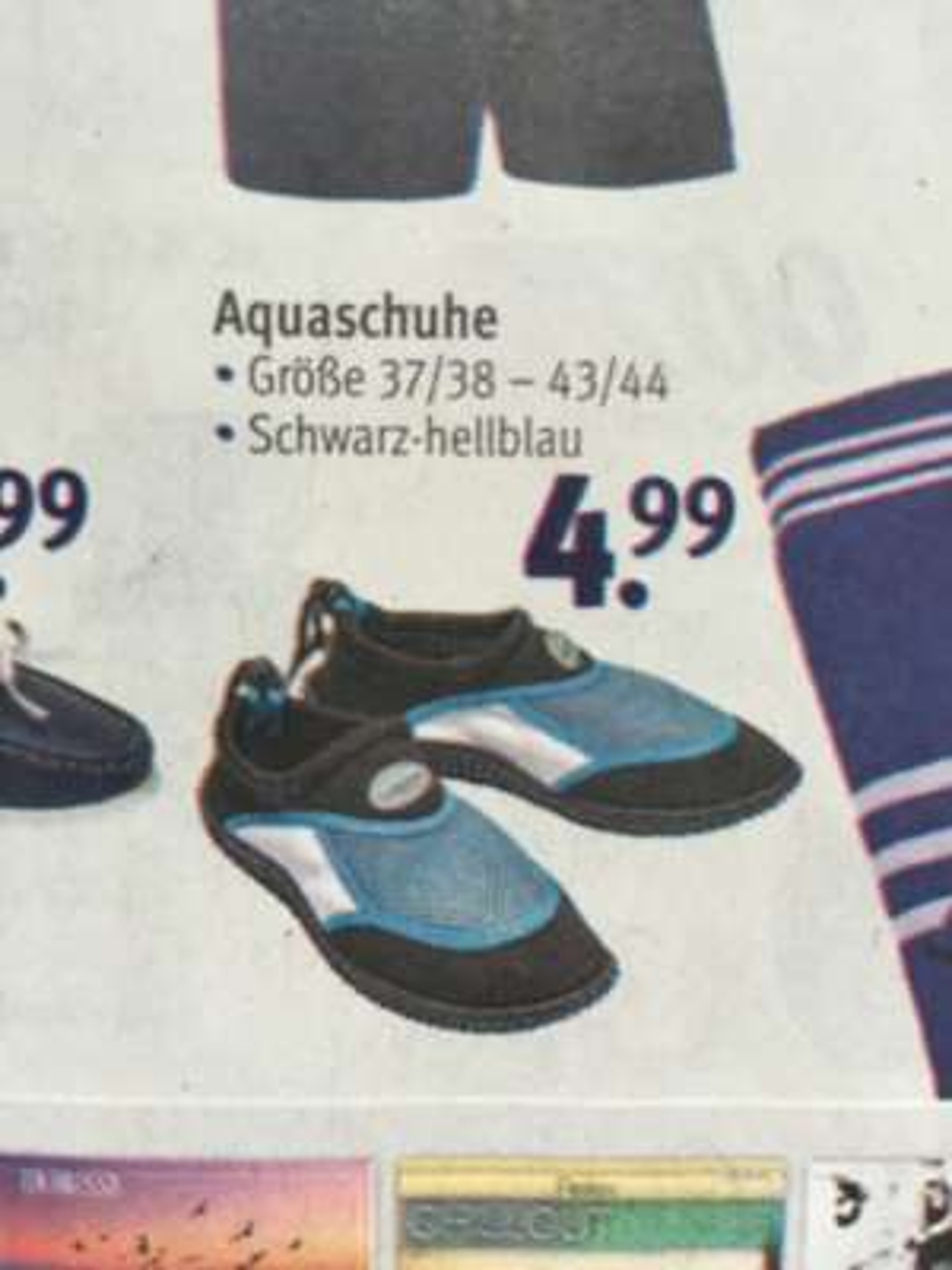 [Rossmann] Aquaschuhe ab Gr. 37 für 4,99 Euro, mit 10% Coupon für 4,49 Euro!