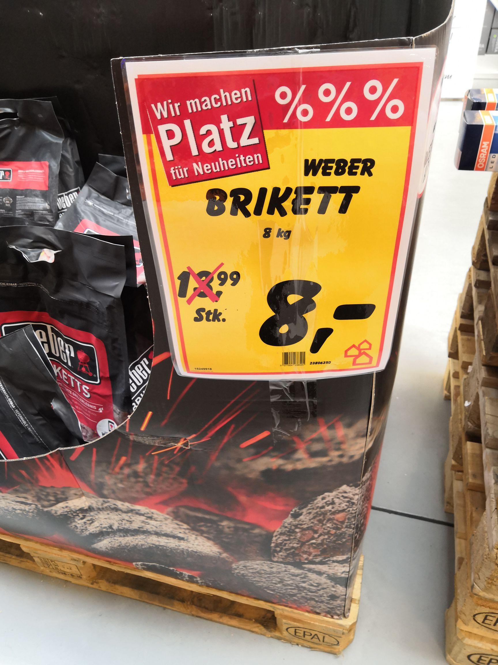 [lokal] Stuttgart-UT Weber Brickets pro kilo 1€