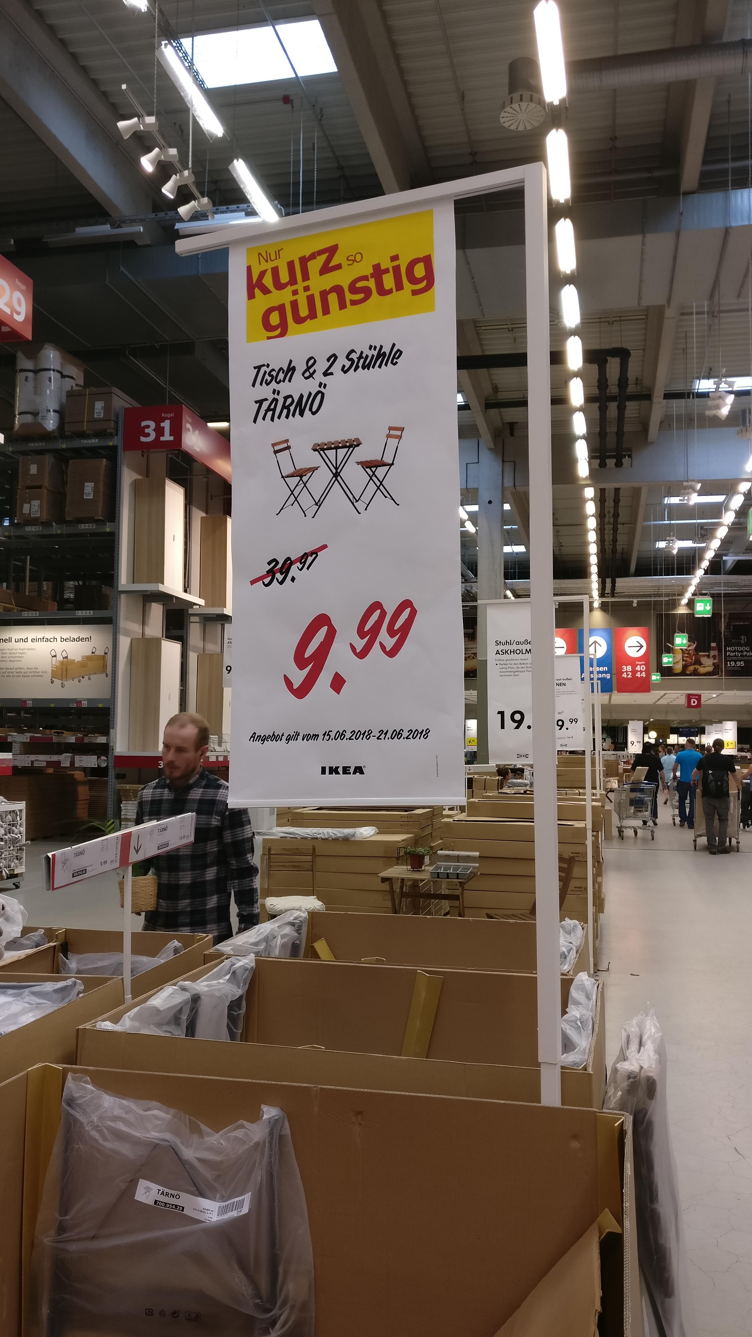 IKEA TÄRNÖ Gartentisch & 2 Stühle