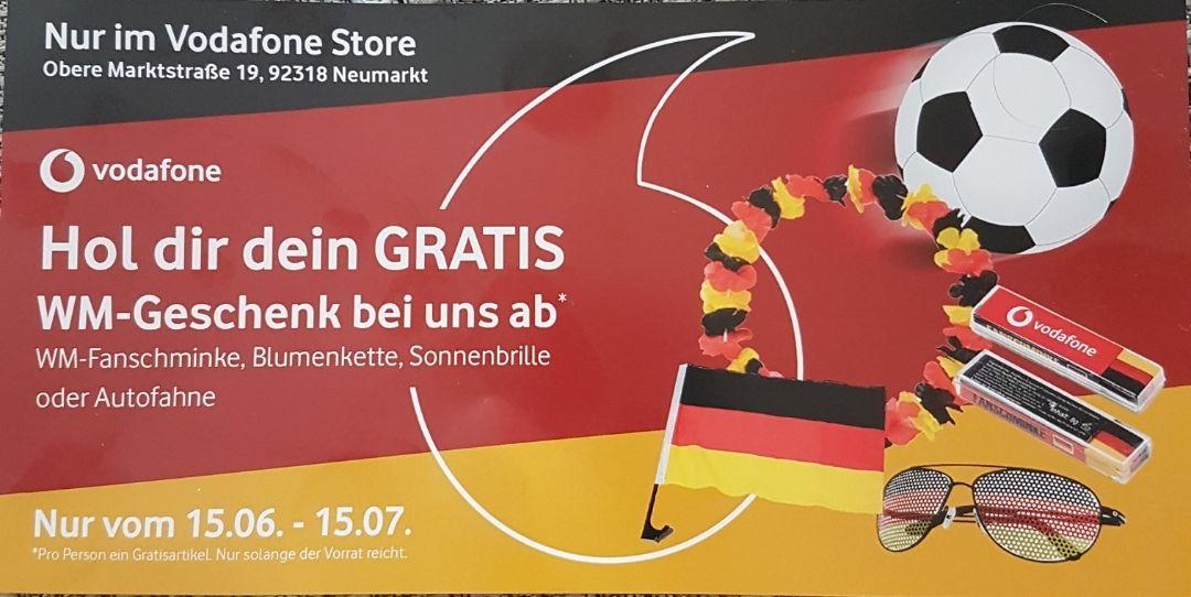 [Lokal Neumarkt Opf.] Gratis WM-Geschenk im Vodafone Shop