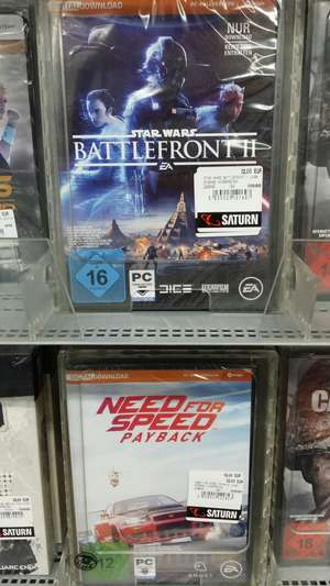 Battlefront 2 oder Need For Speed Payback 22€ Lokal Saturn Hürthpark