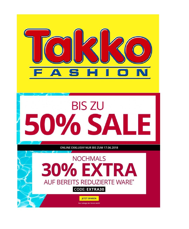 Takko Fashion-Sale: Bis zu 50% Rabatt & 30% Extra-Rabatt!
