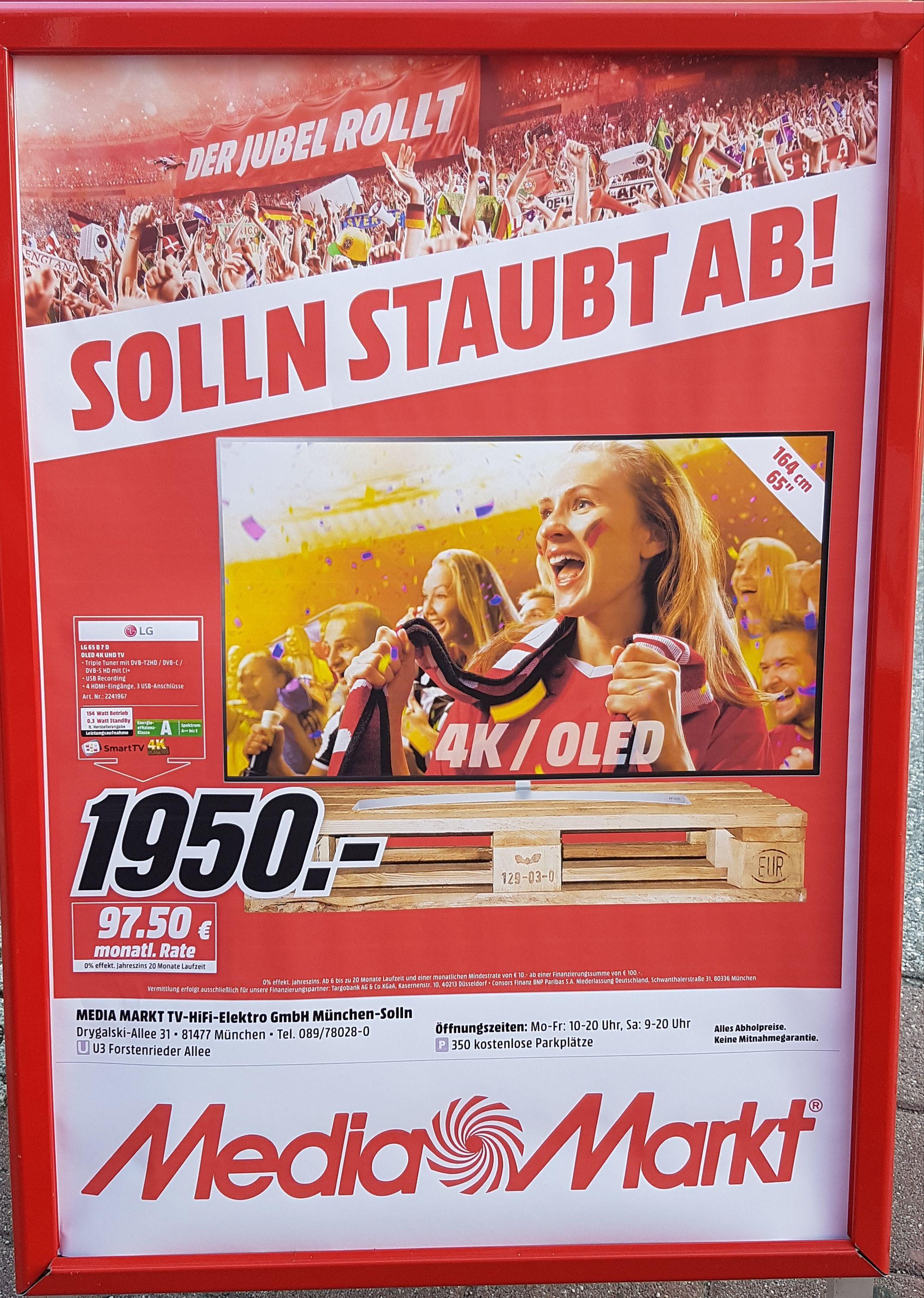 LG OLED 65B7D Media Matkt München-Solln