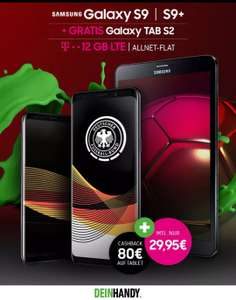 Samsung GALAXY S9 | S9+ Telekom Young 12GB Magenta1 + Tablet + 80€ Cashback