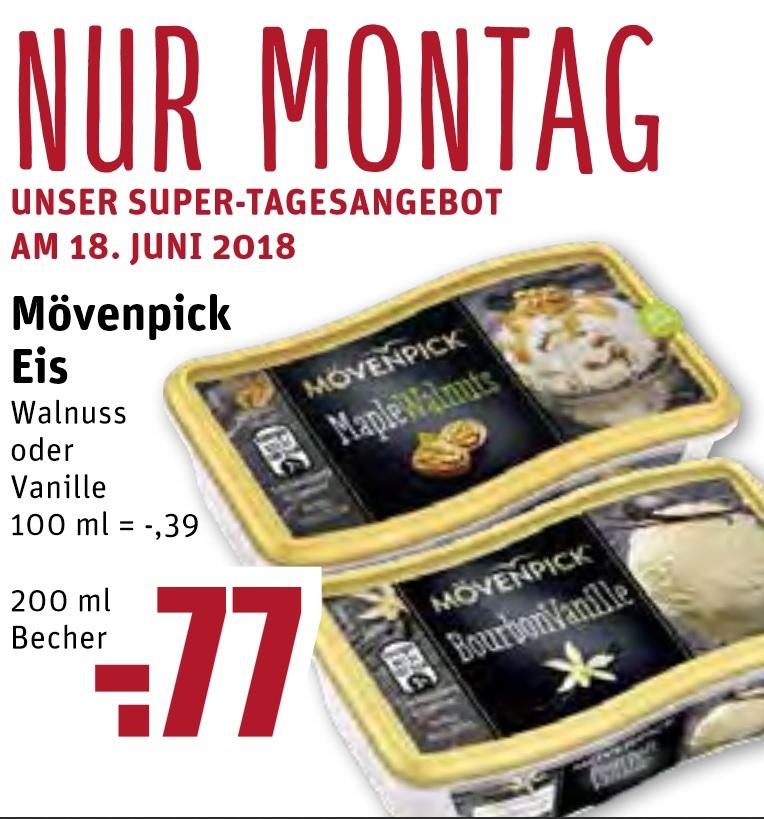 [ REWE DORTMUND - fast gesamtes Ruhrgebiet ] Mövenpick Eis 200ml Becher für 0,77€