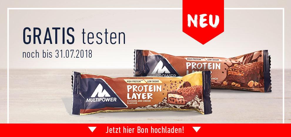 2 Multipower Protein Layer  Proteinriegel gratis testen GzG