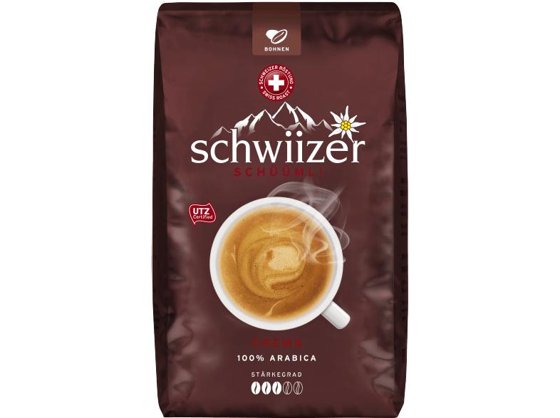 [ mediamarkt.de Multikauf ] 5x 1KG SCHWIIZER Crema Kaffeebohnen für 49,94€ - entspricht 9,99€ pro Packung! VSK-Frei