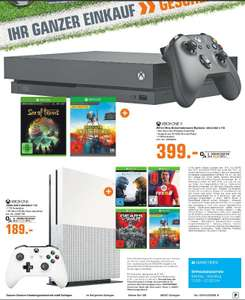 [Regional Saturn Solingen] Xbox One X inc. Sea of Thives + PUBG für 399,-€ // Xbox One S mit 1TB inc. Halo 5+ FIFA 18 + Gears of War UE + PUBG für 189,-€