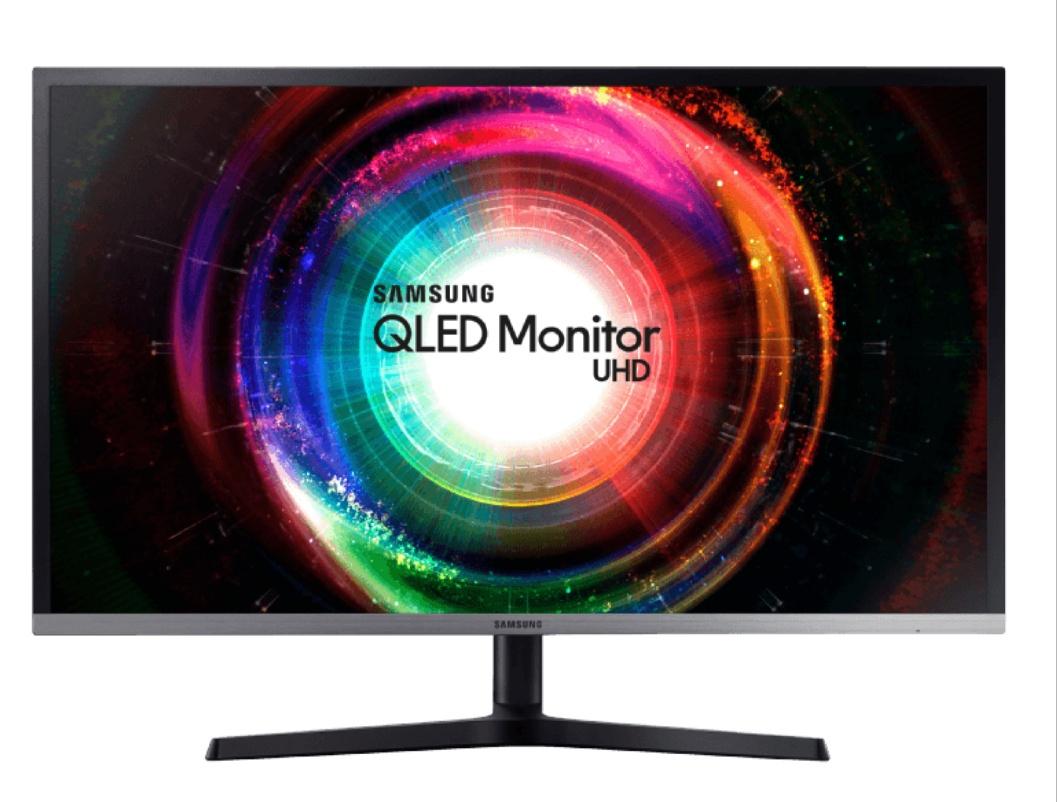 SAMSUNG U32H850UMU QLED UHD 31.5 Zoll Monitor, Pivot, Freesync, Quantum Dot, 4 MS Reaktionszeit