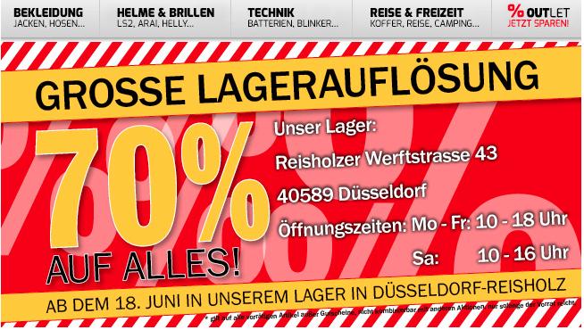 Hein Gericke: Jetzt 70% Rabatt auf alles (regional Düsseldorf)