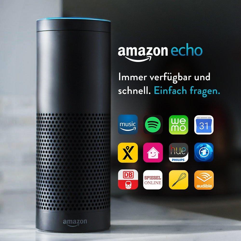 Amazon Echo in Schwarz und Weiß (Vorherige Generation)
