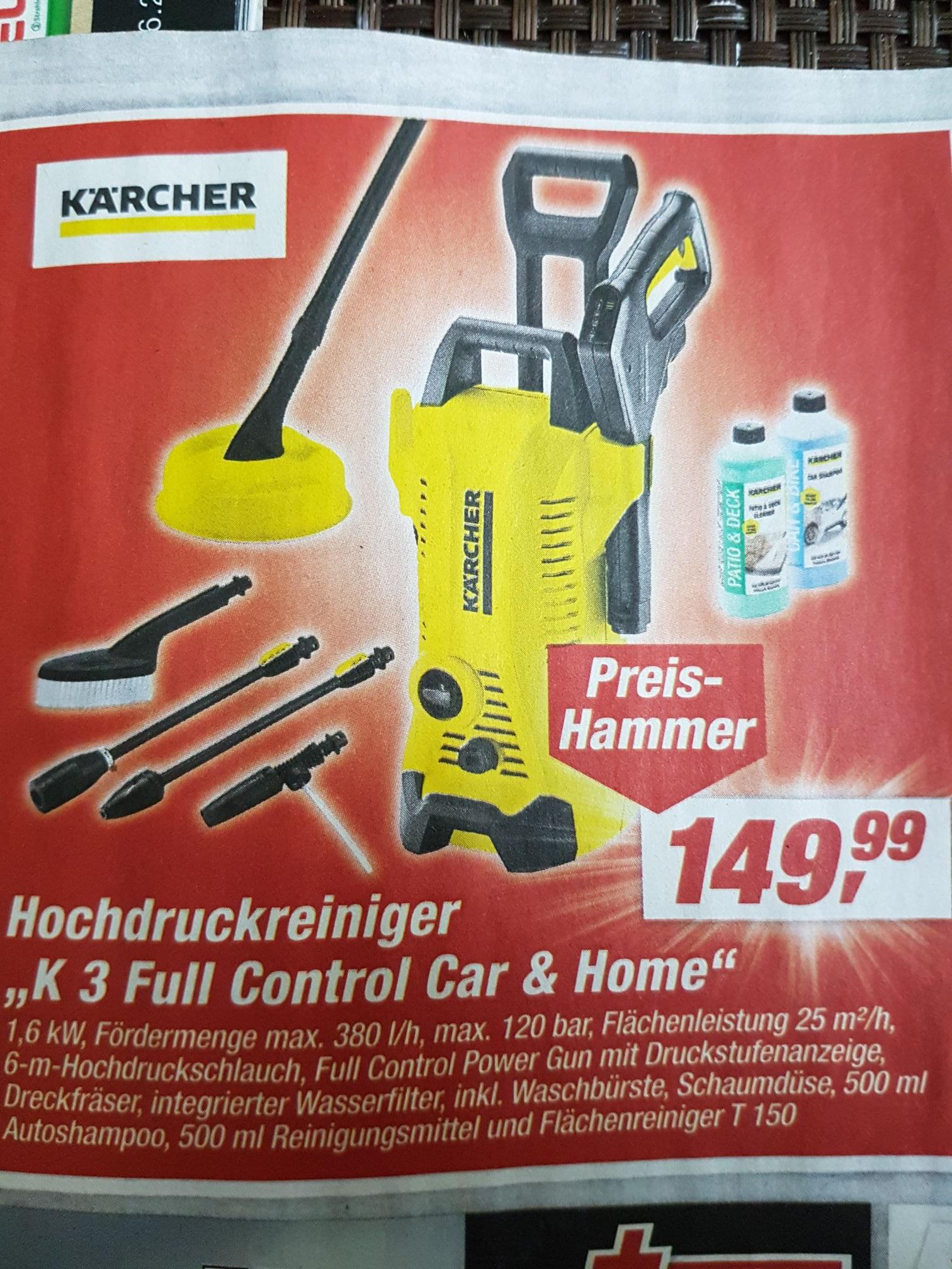 [Lokal / TOOM - teilw. Schleswig Holstein] Hochdruckreiniger Kärcher K3 Full Control Car & Home