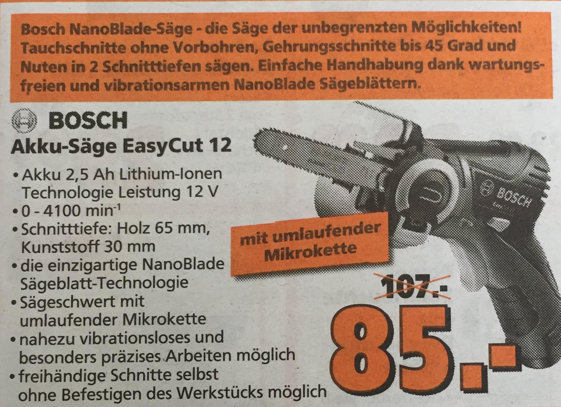 Bosch Nanoblade EasyCut12 - Globus Baumarkt