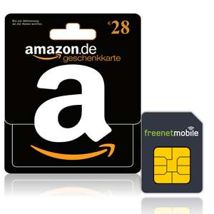 freenetMobile Duo Sim-Karten für 3,90 EUR plus 28 EUR Amazon Gutschein