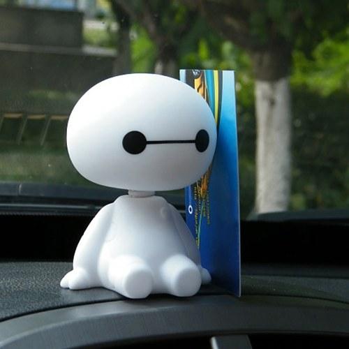 Niedlicher Baymax Roboter, Kopf-Puppe für Auto / Haus / Büro