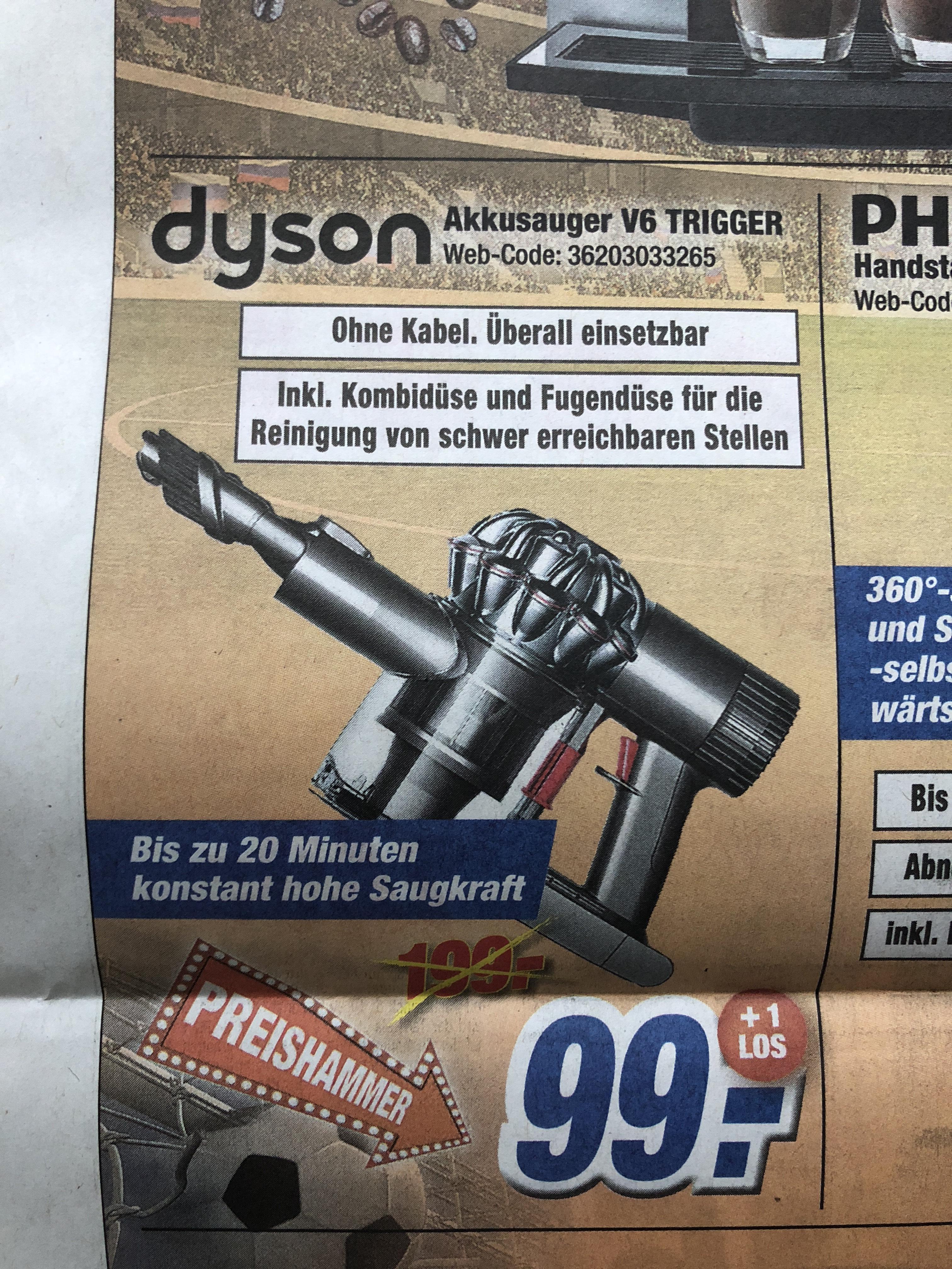 [expert klein]  Dyson V6 Trigger Akkusauger 99 EUR Abholung 102,99 EUR Versand
