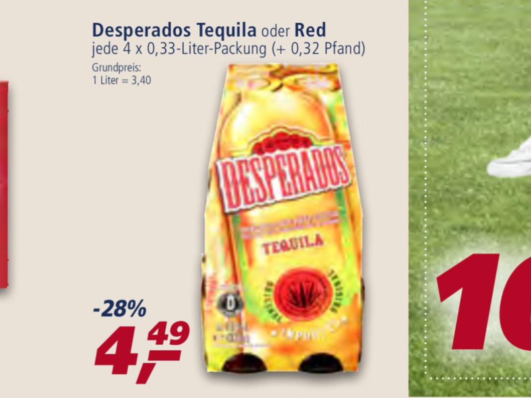 (Real) Leckeres Original Mexikanisches Desperados Tequila Bier 4x0,33L Flaschen