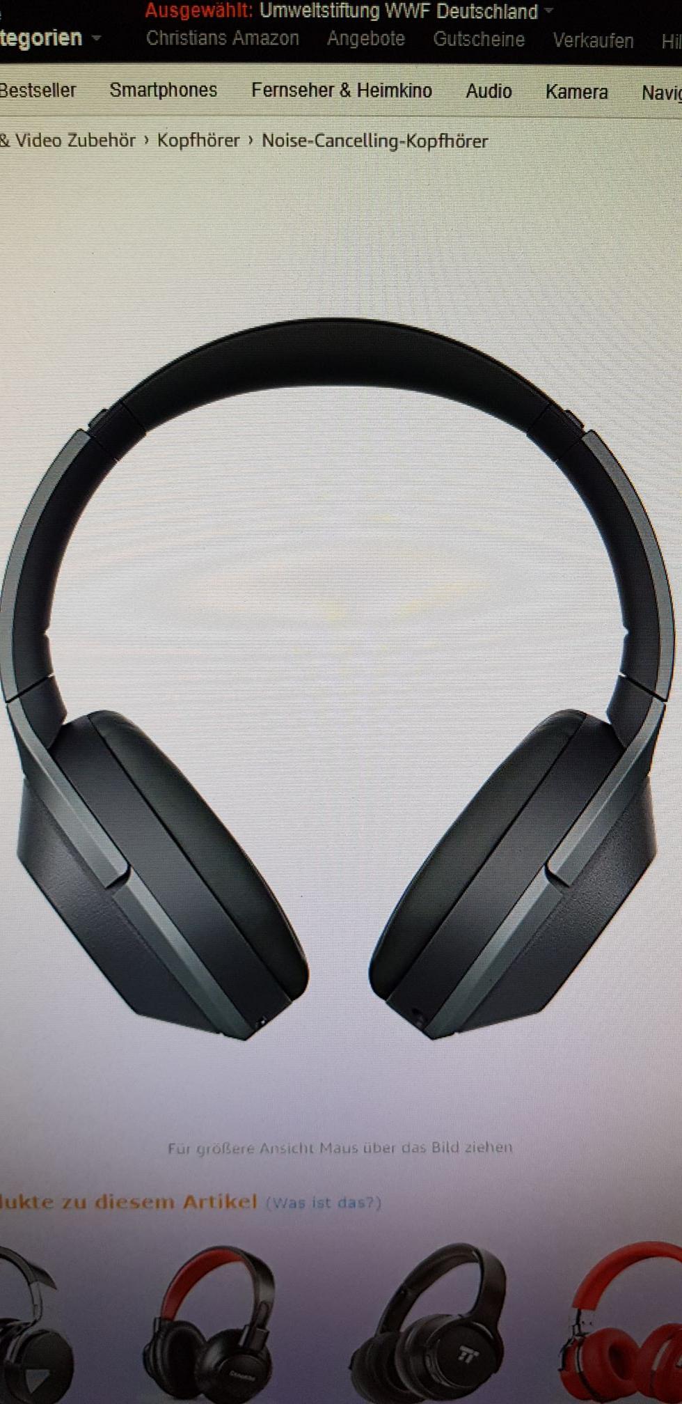"""Sony Kabelloser High-Resolution WH-1000XM2 Kopfhörer (Amazon """"Gebraucht-wie neu"""")"""