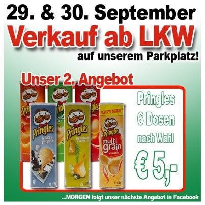 6 Dosen Pringles - 5€