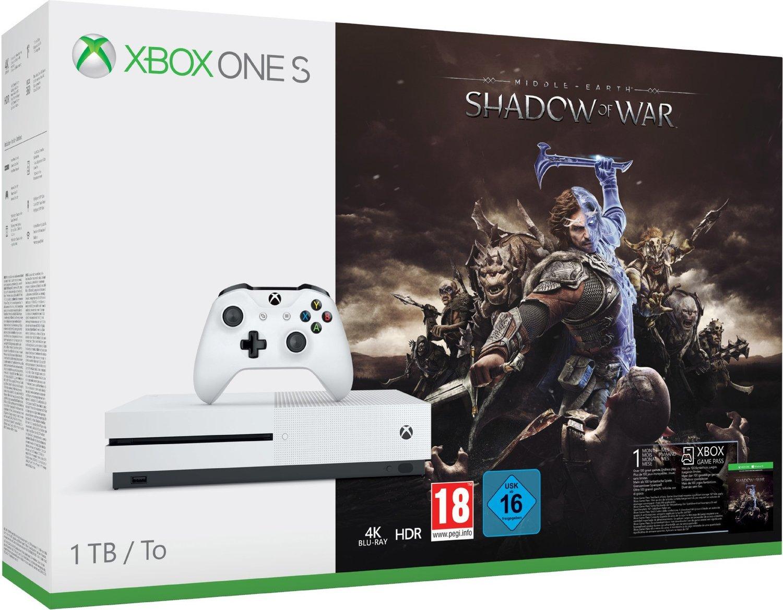 Xbox One S 1TB + Mittelerde: Schatten des Krieges + FIFA 18 für 195,94 €