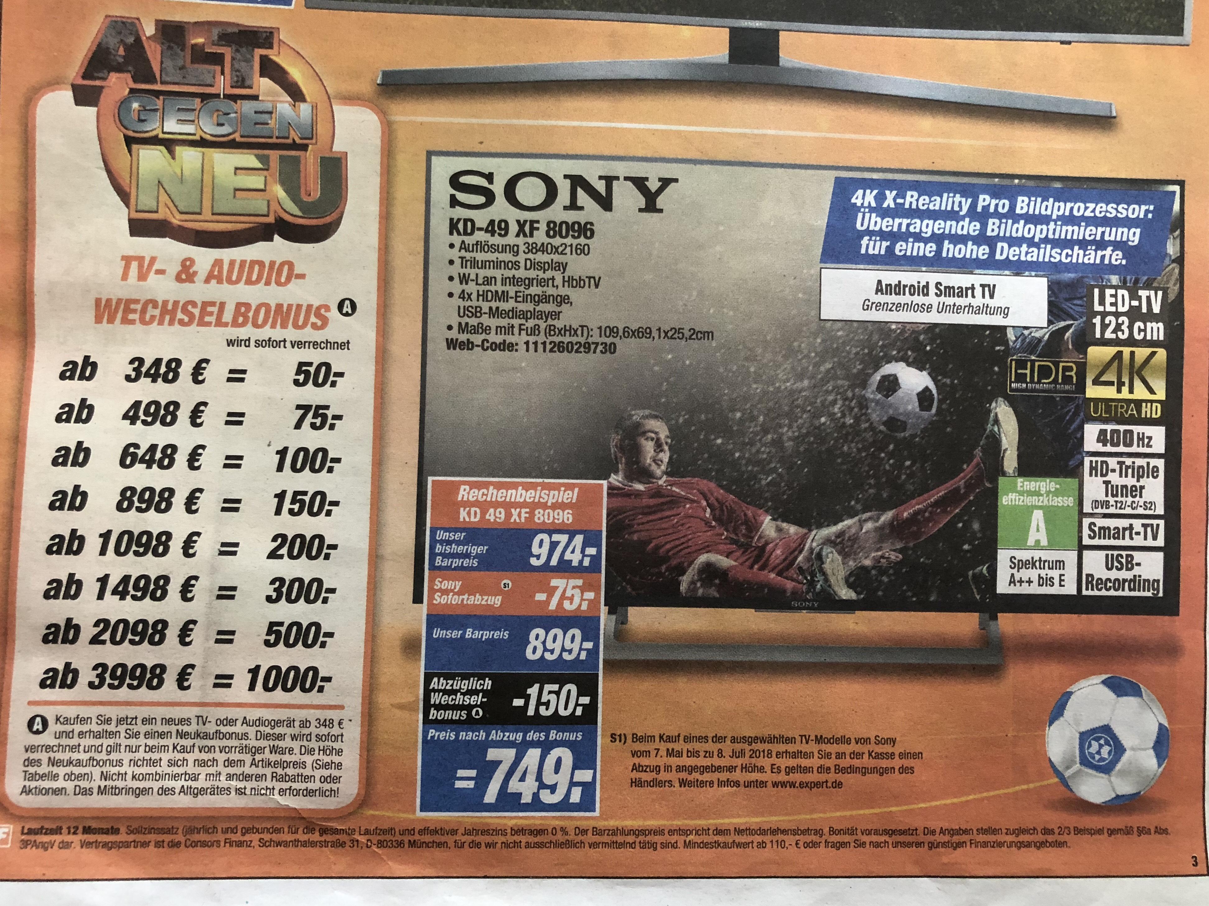Sony KD-49 XF8096
