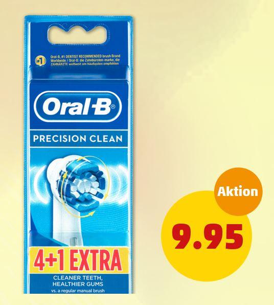 ORAL-B Precision Clean 5-Stück-Packung für 9,95€ bei Penny/Rossmann