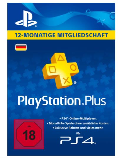 Playstation Plus Mitgliedschaft für 12 Monate versandkostenfrei [Saturn]